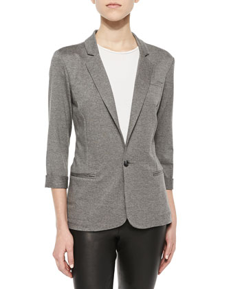 Neville French Terry Fitted Blazer