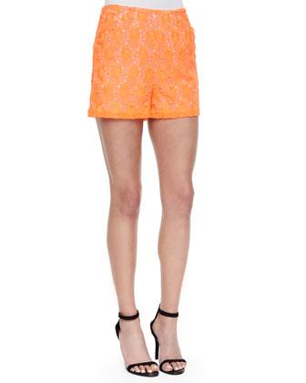Sandra Floral-Lace Shorts