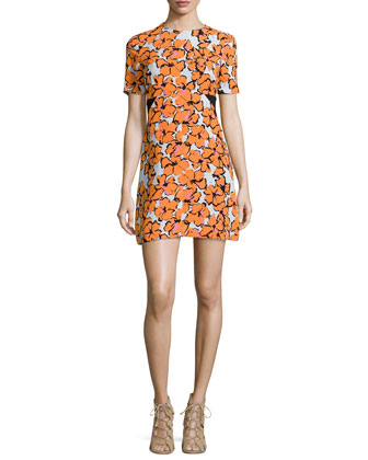 Nora Floral-Print Silk Dress