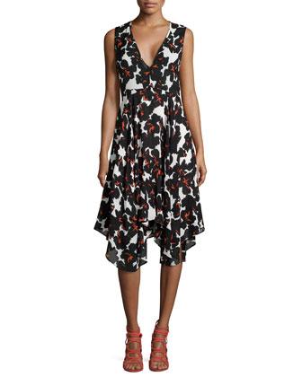 Nello Floral-Print Silk Dress