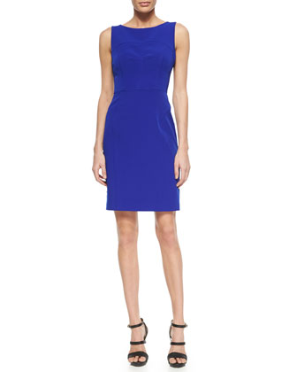 Mika Sleeveless Sheath Dress, Cobalt