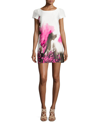 Chloe Floral-Print Sheath Dress