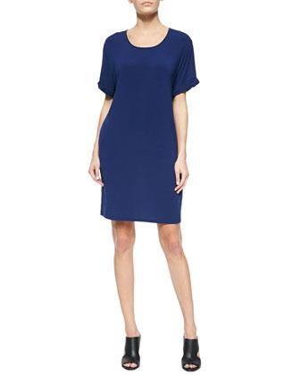 Chambray/Jersey Combo Dress