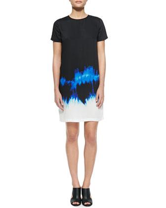 Short-Sleeve Tie-Dye Dress