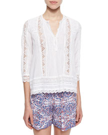 Lace/Eyelet Voile Top