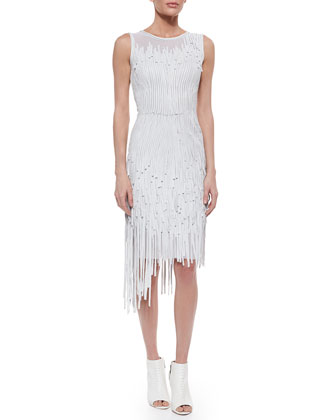 Milan Leather Fringe Dress