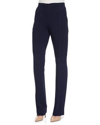 High-Waist Slim Suit Pants