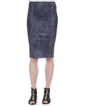 Pamela Leather Pencil Skirt
