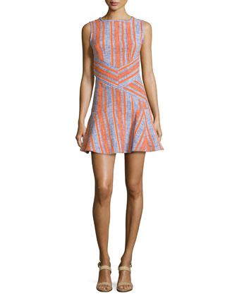 Fancy Striped Tweed Dress