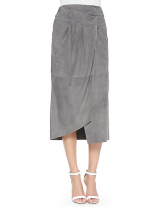 Suede Featherweight Wrap Skirt