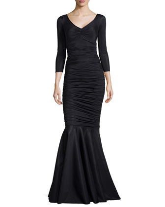 Belen Sparkle Ruched Mermaid Gown