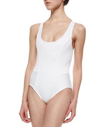 Scoop-Neck One-Piece Swimsuit