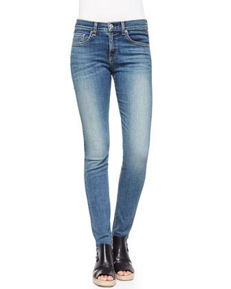 High-Rise Faded Skinny Jeans, Sloane