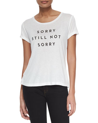 Sorry Still Not Sorry Graphic T-Shirt