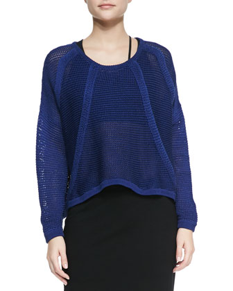 Fine Cord See-Through Pullover