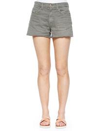 Cutoff Denim Shorts, Fatigue