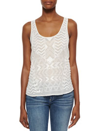 Tammy Beaded Georgette Tank