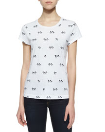 Palm Tree Classic Tee, Bright White