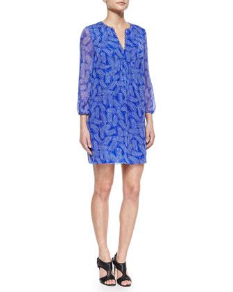 Riviera Printed Silk Shift Dress