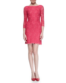 Zarita Bright Lace Dress