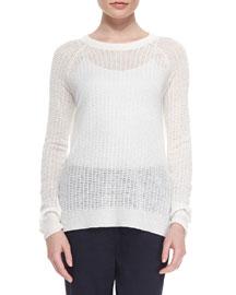 Innis Wide-Stitch Knit Sweater