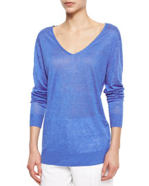 Wynn Lightweight V-Neck Sweater