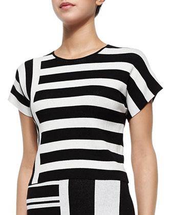 Seblyn Mixed-Stripe Knit Top
