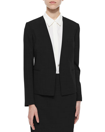 Delaven Open-Front Suit Jacket