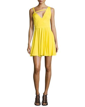 Alegra Asymmetric V-Neck Dress