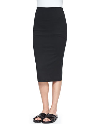Luxe Ponte Long Pencil Skirt