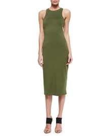 Cutout-Back Luxe Ponte Dress
