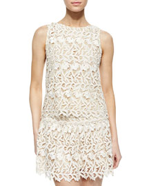Amal Sleeveless Lace Top