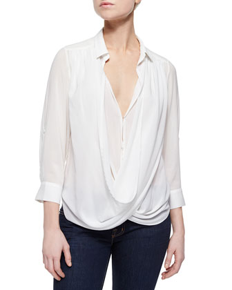 Lalita Draped Layered Sheer Blouse