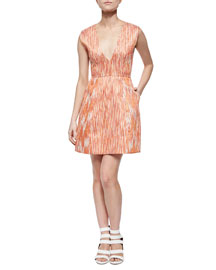 Pacey Deep-V Patterned Dress