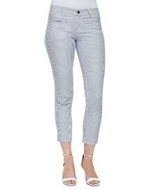 Dorie Striped Twill Skinny Pants