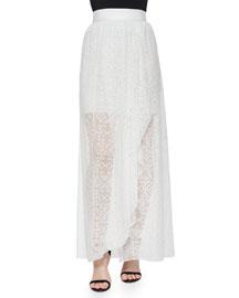 Maibella Embroidered Ruffled Maxi Skirt