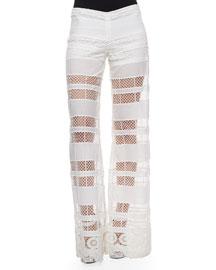 Otto Cutout-Stripe Cotton Pants