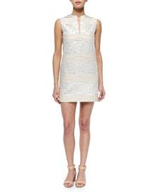 Textured Jacquard Shift Dress