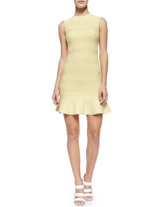 Sleeveless Knit Flounce Dress