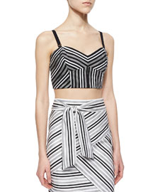 Striped Fitted Crop Top