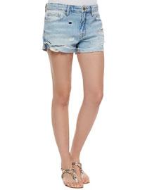 Le Grande Garcon Distressed Shorts