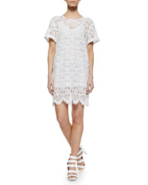 Le Boyfriend Lace Dress, Blanc