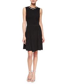 Sleeveless Cutout Flare Dress