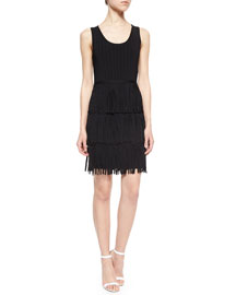 Sleeveless Tiered Fringe Dress