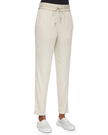 Resolve Drawstring Ankle Pants, Savannah