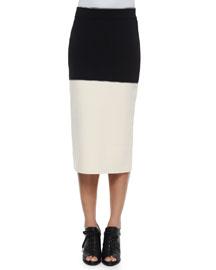 Regina Colorblock Midi Pencil Skirt