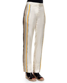 Smith Striped Silk Pants