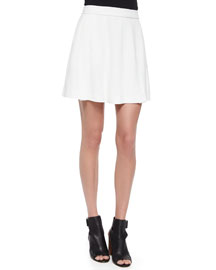 Pleated A-Line Skirt, Off-White
