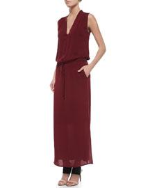 Sleeveless V-Neck Maxi Dress