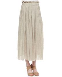 Luna Pleated Maxi Skirt